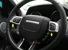 Matt Chrome Steering Wheel Button switch trim cover frame range rover evoque 12+