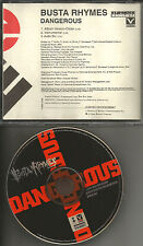 BUSTA RHYMES Dangerous CLEAN & INSTRUMENTAL & AUDIO BIO PROMO DJ CD Single 1997
