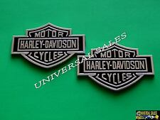 PAIR HARLEY DAVIDSON EMBLEMS BADGES FORD CHROME F-150 F-250 F-350 NAMEPLATES NEW