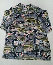 Reyn Spooner New York Yankees Hawaiian Shirt XXL Baseball Rayon