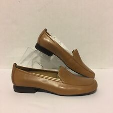 Anne Klein Leather Flats Womens Size 9.5 Us Brown