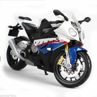 Maisto S1000R Motorbike Model 1/12 scale Blue & White Diecast Motorcycle Toy
