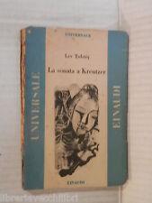 LA SONATA A KREUTZER Lev Tolstoj Einaudi Universale 1945 Narrativa Russia libro