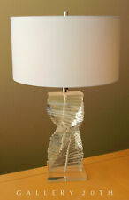 EPIC! STACKED ITALIAN LUCITE TABLE LAMP! KARL SPRINGER STYLE 60S 70S MID CENTURY