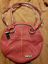 Red 24 Brand Small Solid Pink Basketball Handbag Purse with whistle New, Cute!