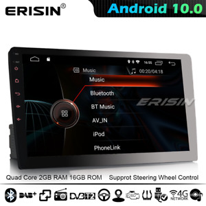 """Universal 10.1"""" Single Din In-Dash Android 10 Car GPS Stereo CarPlay DSP TPMS 4G"""