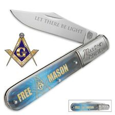 Masonic Free Mason Master Barlow Large Folding Pocket Knife BK3001