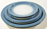 Denby Castile Blue 6 PCS Two Dinner Two Salad Two Bread and Butter Plates Englan
