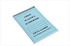 CHESS PLAYER Chess Scorebook (120 Moves/Game) - BLUE