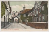 Wiltshire postcard - Close Gate & High Street, Salisbury - P/U 1904 (A232)