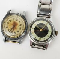 Lot Of (2) Vintage Mens 1940-50s Watches For Repair,  Junghans, Sparina