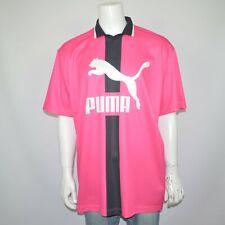 Nwt Puma Xtg Relaxed Fit Fuchsia Stretch Colorblocked Jersey Polo Shirt Sz Xxl