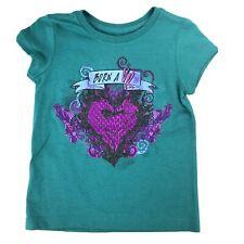 Disney Store Girls Green Short Sleeve Descendants Born A VK T Shirt Top XS 4
