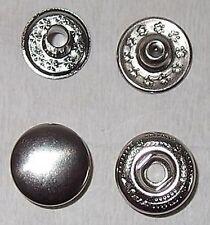 15 Druckknöpfe ! rostfrei ! 13,5mm silber S-Feder mit Werkzeug Wuk 5/6