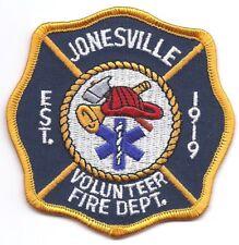 **JONESVILLE NEW YORK VOLUNTEER FIRE DEPARTMENT FIRE PATCH**