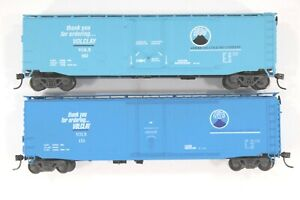 HO Athearn and ??? Volclay / American Colloid 50ft Plug Door Box Cars Dif RNs
