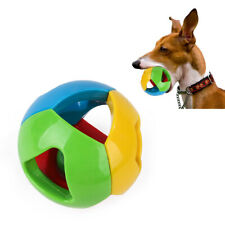 3X Pet Dog Bell Hollow Balls Squeaky Bite-resistant PlasticTraining Puppy Toy