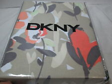 New DKNY WATERCOLOR FIELDS Floral Fabric Shower Curtain 72x72 ~ Neutral Coral