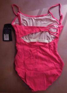 NWT Ladies LGE Asymmetrical strappyback leotard azalea Gilda Marx Cotton Spandex