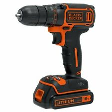 BLACK+DECKER BDCDC18KB-GB Cordless Drill Driver with Kitbox and 2 x1.5 Batteries