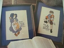 Children's Poetry Be Ye Kind Love of God OOP Magazine Cross Stitch PATTERN (Y)