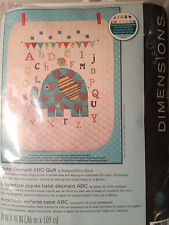 Dimensions BABY ELEPHANT ABC QUILT -  Stamped Cross Stitch Kit baby blanket