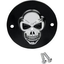 3d Skull Tapa de encendido CROMO - Negro F.HARLEY - DAVIDSON BIG TWIN 70-99