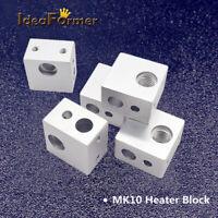 5Pcs MK10 MK2 Aluminum heating block for Makerbot Mk10 MK2 3D Printer Extruder.