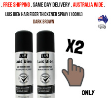 Luis Bien Hair Fiber Thickener Spray (100ml)  - DARK BROWN VALUE PACK X2 !!!