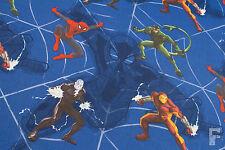 100% cotone tessuto stampato-PERSONAGGI marvel-SPIDER-MAN & IRON MAN
