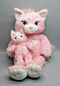 "LOT Marie Aristocats Build A Bear Plush Pink Cat 19"" + Mini Kitty Pink Heart"