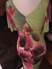 Roberto Cavalli  Orchid print dress euro size I 44