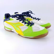 Diadora Quinto Mens Running Track Indoor Soccer Cleats Shoe White Acid Size 9