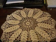 Large Cream Vintage Handmade Crochet Round Table Place mats