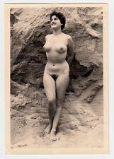 #635 RÖSSLER AKTFOTO / NUDE WOMAN STUDY * Vintage 1950s Outdoors Photo - no PC !