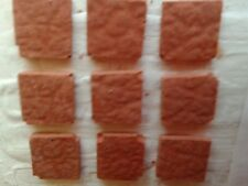150 piastrelle 10x10mm terracotta  minuterie presepe miniature tegole crib