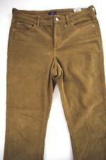NYDJ Bootcut Lift Tuck Brown Corduroy Pants Not Your Daughters Jeans Size 8