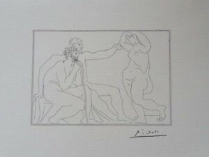 Pablo Picasso(After) : All 2 Masters et La Muse- Lithography Signed 1200ex