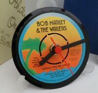 *new* BOB MARLEY & WAILERS CLOCK Upcycled Vinyl Record