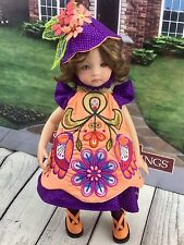 """Peruvian Flowers   doll clothes fits 13"""" little Darling By Diana Effner"""