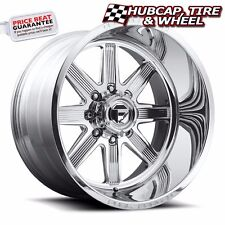 "FUEL FORGED FF20 POLISHED 26""x16 CUSTOM WHEELS RIMS (4 RIMS) 9 LIP STYLE CHOICES"