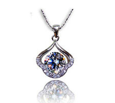 1.5 CT Diamond Heart LOVE S925 Sterling Silver 18: Necklace gift Her/Mom-#0075