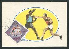 UNGARN MK 1964 OLYMPIA OLYMPICS BOXEN BOXING CARTE MAXIMUM CARD MC CM d8558