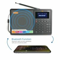 Tragbarer DAB+ FM Bluetooth-Lautsprecher Smart Radio GTMEDIA D1 Wireless Schwarz