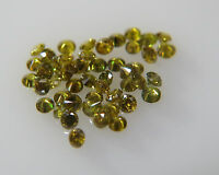 1.3mm 0.10cts 10pc Green Yellow SI Clarity Natural Loose Brilliant Cut Diamond