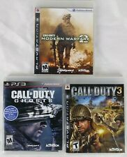 Call of Duty PS3 Lot: Call of Duty 3, Ghosts, Modern Warfare 2 Complete 2 Manuel
