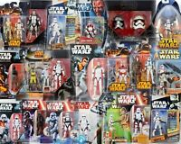 STAR WARS CLONE TROOPER & STORMTROOPER CARDED FIGURES - ALL MOC