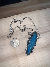 Turquoise Necklace - Beautiful! Authentic Sterling Silver and