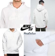 SZ LARGE 🆕🏂🔥 Nike SB Icon Pullover Men's Hoodie White Gym Hoody 846886-100