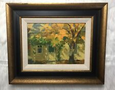 "Robert Wallace Butte Signed Oil Painting ""Beekman House Back Door"""